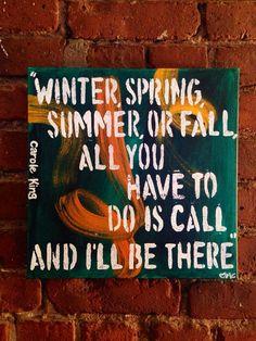 Original Painting of Carole King-  You've Got a Friend Lyrics on Etsy, $40.00