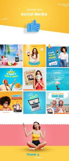 Social Media - Nordestinha on Behance Social Media Bar, Social Media Branding, Social Media Design, Social Media Graphics, Social Media Marketing, Social Media Posts, Desing Inspiration, What Is Social, Instagram Banner