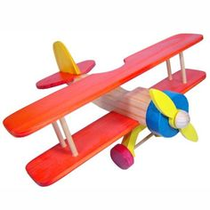 Wooden Airplane, Wooden Toy Cars, Wood Toys, Arts And Crafts Projects, Wood Projects, Woodworking Projects, Craft Activities For Kids, Diy And Crafts, Crafts For Kids