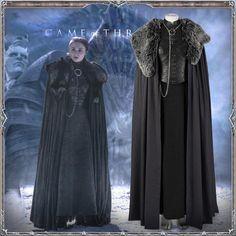 Game of Thrones Season 8 Sansa Stark Cosplay Costume for Women Halloween Cosplay Game Of Thrones Outfits, Game Of Thrones Dress, Game Of Thrones Cosplay, Game Of Thrones Costumes, Viking Cosplay, Viking Costume, Halloween Cosplay, Cosplay Costumes, Costume Dress