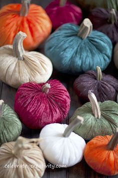 celebrate CREATIVITY in all its forms: How to Make Velvet Pumpkins