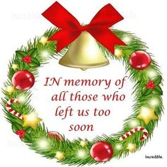 In Memory at christmastime