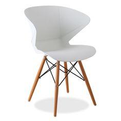 Design-Stuhl fürs Esszimmer      oder für Gastronomieeinrichtungen.      Gehäuse aus Polypropylen mit      Armlehnen.      Kantiges Design, sehr originell und      zeitgenössisch.      Natürliche Buchenholzbeine.      Verfügbar in weiß      oder schwarz.  Der Stuhl WOODEN PRISMA ist die perfekte Kombination aus Bequemlichkeit und Funktionalität. Sein origineller Sitz nimmt die Form des Rückens des Nutzers perfekt an. Die Seitenenden schließen mit einem Winkel ab und lassen so die Armle...