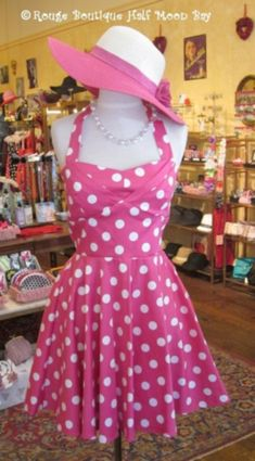 Origins of the popular in fifties fashion polka dots from their beginnings in the early twentieth century cinema until now. Fifties Fashion, Dot Dress, Fashion History, Polka Dots, Summer Dresses, Vintage, Design, Summer Sundresses