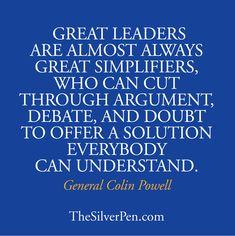 Colin Powell Quote, TheSilverPen.com #PersonalLeadership #Women