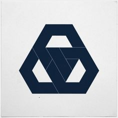 #330 Hexagon knot – The final piece of hexagon week. Something definitely hexagon-less tomorrow. – A new minimal geometric composition each day