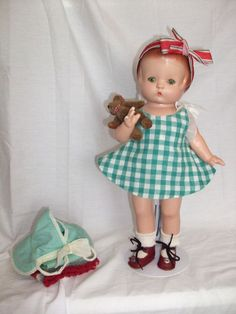 """Effanbee 13.5"""" Composition Patsy Ann Doll c. 1929-30-with her vintage outfits"""