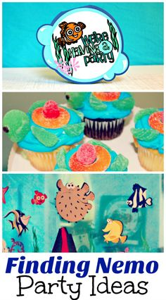 Plenty of ideas for food and decorations for your own finding nemo birthday party! Diy Craft Projects, Crafts For Kids, Disney Birthday, Finding Nemo, Diy Party, Party Themes, Party Ideas, Birthday Parties, Birthday Ideas