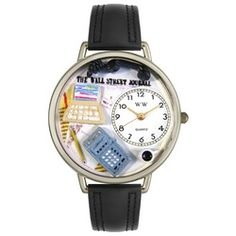 AccounTant Black Padded Leather And Silvertone Watch #U0610005 - http://www.artistic-watches.com/2013/02/19/accountant-black-padded-leather-and-silvertone-watch-u0610005-2/