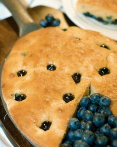 """CLICK PIC 2x for Recipe.... ..""""Low Carb"""" Blueberry Breakfast Pan Bread... ...Recipe by George Stella... ...For tons more Low Carb recipes visit us at """"Low Carbing Among Friends"""" on Facebook"""