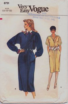 80s Very Easy Vogue Pattern 8731 Womens Blouson by CloesCloset, $9.00