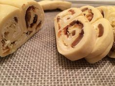 Caramelized onion, horseradish, and gruyere palmiers, sliced | Striped Spatula