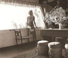 love this home & photo { brigitte bardot at her home in saint tropez }