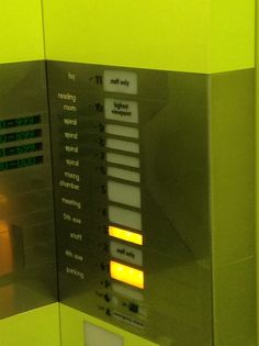 Cool elevator buttons.