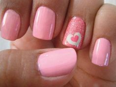 Heart Nail Designs Many are apprehensive about using glitter in its entirety. However, this design makes it look elegant and simple at the same time. The post Heart Nail Designs appeared first on Daily Shares. Heart Nail Designs, Fall Nail Art Designs, Pink Nail Designs, Nails Design, Pedicure Designs, Salon Design, Cute Pink Nails, Pink Nail Art, Red Nail