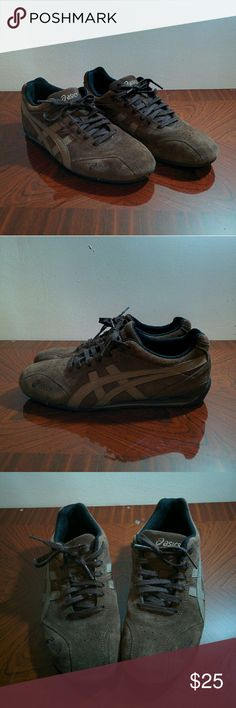 Asics Sneakers from Asics. Real leather upper. Similar to the popular Mexico 66 asics. Worn very little, bottom sole just a bit dirty. Marked as men's 6.5 so ladies 8 Onitsuka Tiger by Asics Shoes Sneakers