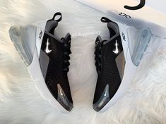 Swarovski Nike Womens Girls Air 270 Customized With Swarovski Crystals Bling Nike Shoes Silver Cute Sneakers, Best Sneakers, Cute Shoes, Me Too Shoes, Adidas Sneakers, Shoes Sneakers, Bling Nike Shoes, Silver Shoes, New Shoes