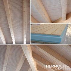 Paneles sándwich THERMOCHIP® Abeto (TAH), una opción decorativa y ecológica que deja a la vista las vetas y nudos de la madera | #THERMOCHIP #madera #panelsándwich #techos #decoración #interiorismo #abeto