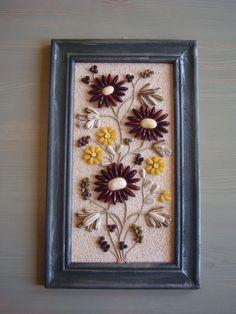 termés kép 002, Dekoráció, Kép, Meska Pistachio Shells, Seed Art, Mosaic Diy, Nature Crafts, Natural Materials, Seeds, Projects To Try, Frame, Creative