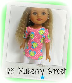 Hearts 4 Hearts Doll Clothes H4H Hearts Frogs by 123MULBERRYSTREET