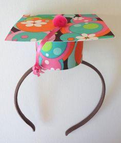 Make for Heidi's preschool graduation, stiffen the fabric with heavy interfacing and attach to a headband!