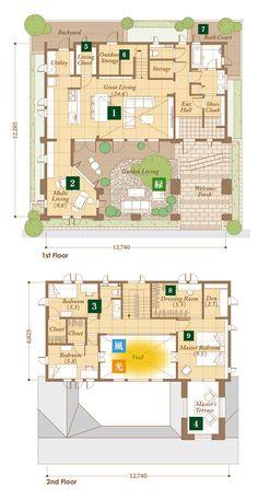 Japan House Design, Sims House Design, Sims 4 House Plans, House Floor Plans, Home Design Plans, Plan Design, Japanese Architecture, Architecture Design, Japanese Modern House