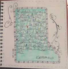 Bible memory verse art journal <3