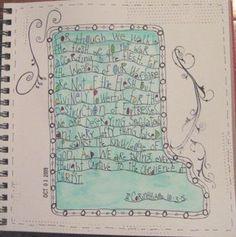 Bible memory verse art journal <3