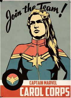 Captain Marvel, Carol Danvers | Carol Corps, Etsy Barbicane
