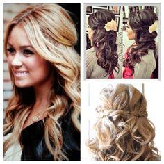Bridesmaid Hair :) http://www.pbfingers.com/wp-content/uploads/2013/10/Bridesmaidhair.jpg i like the hair down