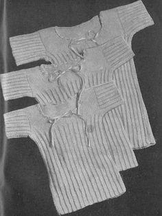 Vintage 1943 Knitting Pattern Babies Childrens Vests for 6 month-5 years old (3 sizes) - digital file
