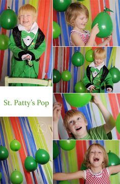 St. Patty day pop -- each balloon holds a random number of tickets which the kids can redeem for prizes.