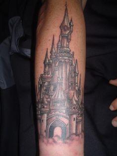 Magical Disney Tattoos! Cinderella's Castle is so amazing!