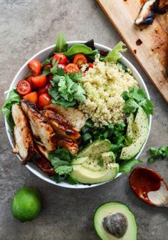 Serve this honey chipotle chicken bowl for dinner tonight!