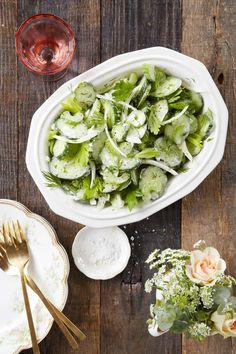 Cucumber, Celery, & Sweet Onion Salad with Sour Cream Dressing. I love, love, love Country Living magazine and just devoured the new issue in one sitting. Check out this new take on an old favorite recipe!