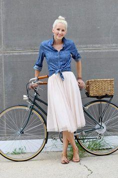 love her polka dot skirt