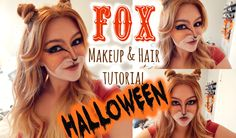 FOX MAKEUP & HAIR   Halloween tutorial