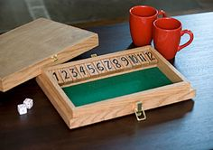 Shut the Box  Classic self contained dice game.