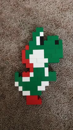Lego Yoshi - Amanda's Creations - Lego Mario, Lego Super Mario, Lego Duplo, Lego Technic, Lego Minecraft, Hama Beads Minecraft, Perler Beads, Minecraft Skins, Minecraft Buildings