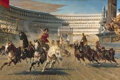 Each race used different amounts of horses pulling the chariot