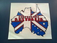 Decals Patches and Stickers 22711: Surfboards Australia 1960S Large Decal BUY IT NOW ONLY: $55.0