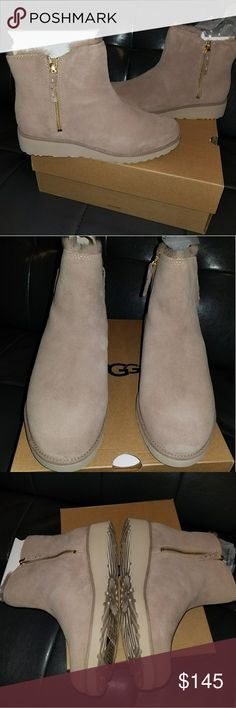 Ugg boots nwt Ugg boots model w shala color fawn new incluided original box and tags water resistant # 10.0 womans size price 145 Shoes Winter & Rain Boots