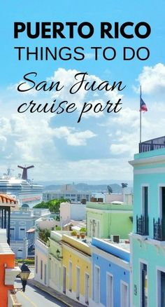 For a day in port at San Juan during your Caribbean cruise vacation, here are free things to do in Puerto Rico near the cruise port! As long as you don't mind a little walking, you can make your day itinerary a self-guided historic walking tour of Old San Cruise Port, Cruise Tips, Cruise Travel, Cruise Vacation, Vacation Destinations, Vacation Trips, Vacation Travel, Beach Travel, Cruise Excursions