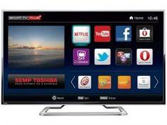 "Smart TV LED 4K Ultra HD 55"" Semp Toshiba 55L7400 - Ultra HD Conversor Integrado 3 HDMI 2 USB"
