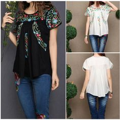 Mexican embroidered tops