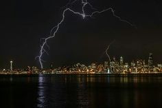 Wow!  Never saw lightning in Seattle when we lived there.