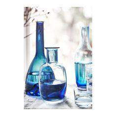 IKEA - STOCKHOLM Carafe, This carafe is mouth blown by a skilled craftsperson, giving each carafe its own unique shades of blue. Ikea Stockholm, Stockholm 2017, Ikea Interior, Bathroom Interior Design, Interior Paint, Ikea Inspiration, Ikea Us, Scandinavian Kitchen, Design Your Life