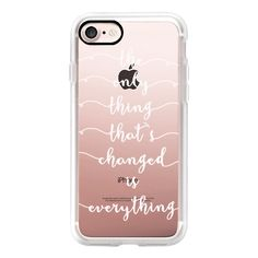 THE ONLY THING by Monika Strigel  for Standard Rosegold - iPhone 7... ($40) ❤ liked on Polyvore featuring accessories, tech accessories, iphone case, iphone hard case, rose gold iphone case, apple iphone case, iphone cover case and iphone cases