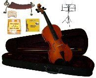 GRACE 18 Size Natural Acoustic Violin with Case and BowRosin2 Sets Strings2 BridgesTunerShoulder RestMusic Stand ** Check out the image by visiting the link.Note:It is affiliate link to Amazon.