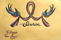cancer ribbon, this would be beautiful